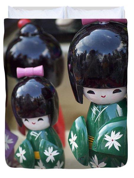 Japanese Dolls Duvet Cover