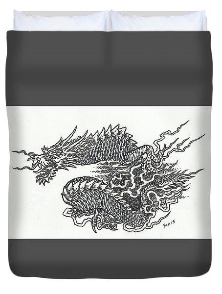 Japanese Dragon Duvet Cover
