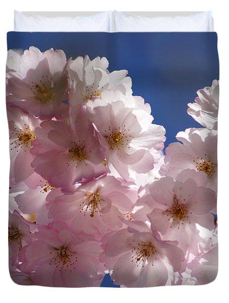 Japanese Flowering Cherry Prunus Serrulata Duvet Cover