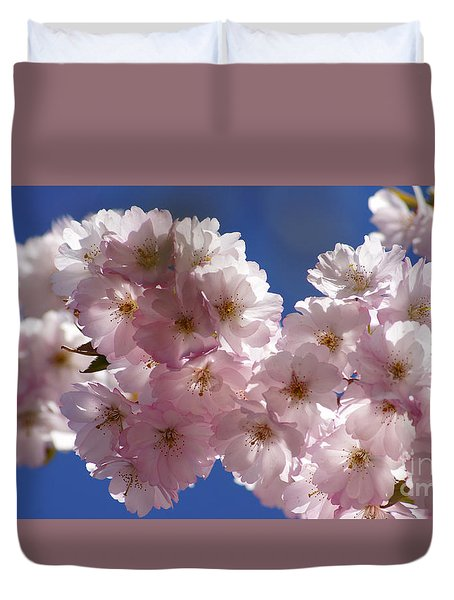 Japanese Flowering Cherry Prunus Serrulata Duvet Cover
