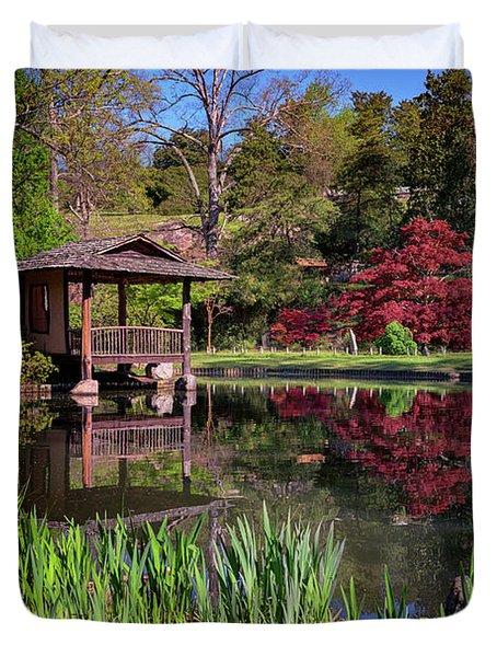 Japanese Garden At Maymont Duvet Cover by Rick Berk