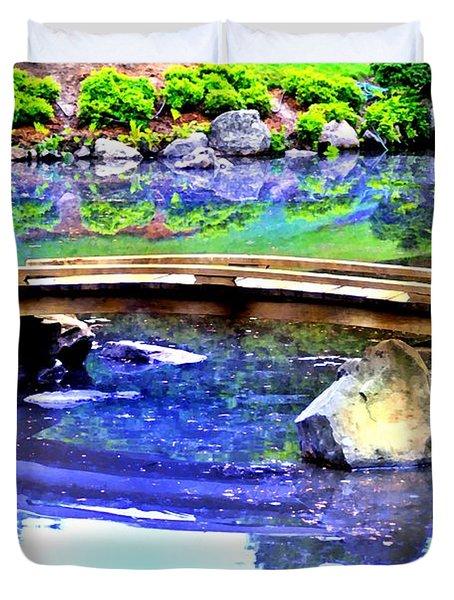Japanese Garden Duvet Cover by Bill Cannon
