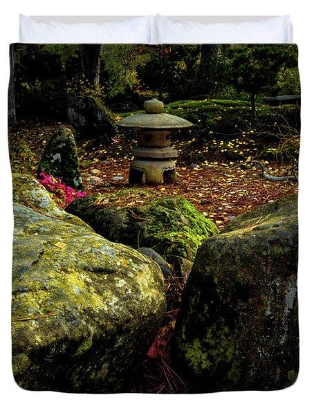 Japanese Garden Lantern Duvet Cover