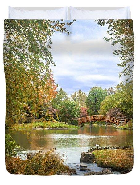 Japanese Garden View Duvet Cover