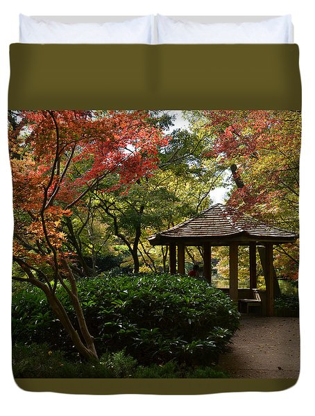 Duvet Cover featuring the photograph Japanese Gardens 2577 by Ricardo J Ruiz de Porras