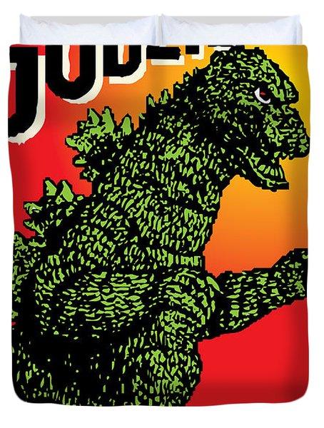 Japanese Godzilla  Duvet Cover