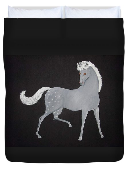 Japanese Horse 2 Duvet Cover by Stephanie Moore