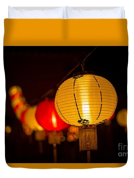 Japanese Lanterns 3 Duvet Cover