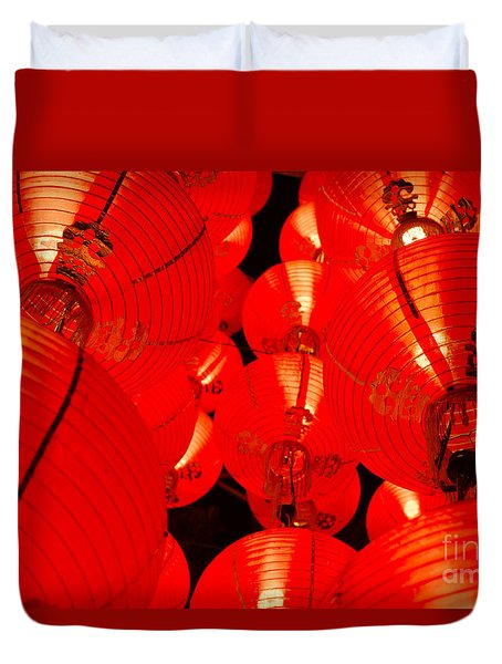 Japanese Lanterns 7 Duvet Cover