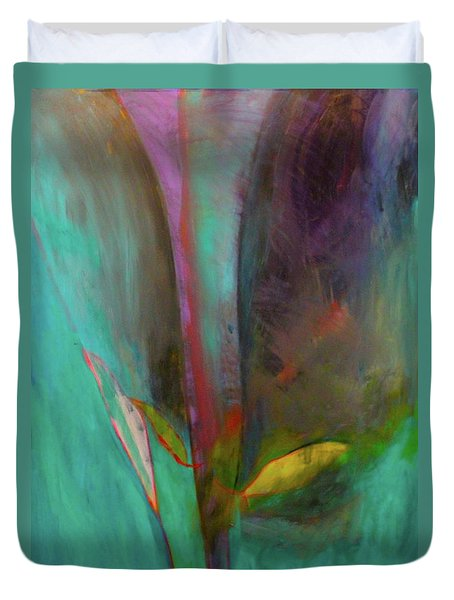 Duvet Cover featuring the painting Japanese Longstem  by Iconic Images Art Gallery David Pucciarelli