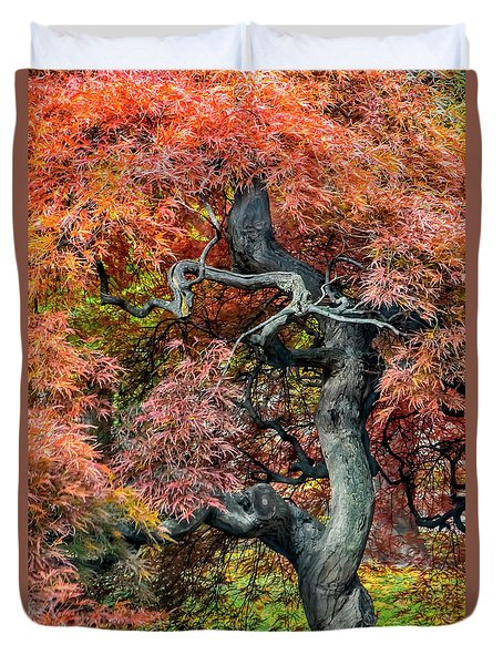 Japanese Maple - Aged To Perfection Duvet Cover