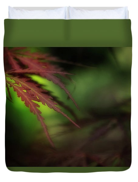 Duvet Cover featuring the photograph Japanese Maple by Mike Eingle