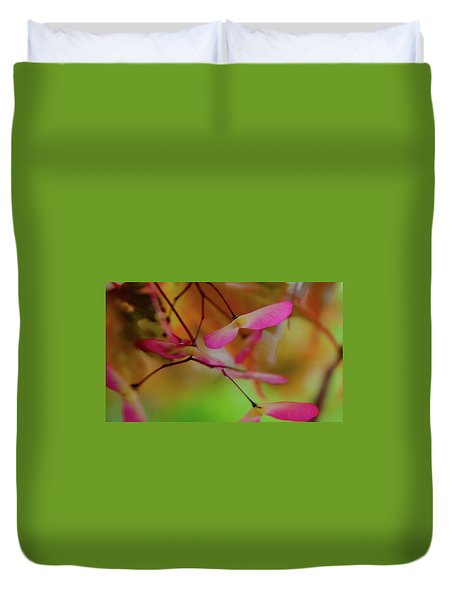 Duvet Cover featuring the photograph Japanese Maple Seedlings by Brenda Jacobs