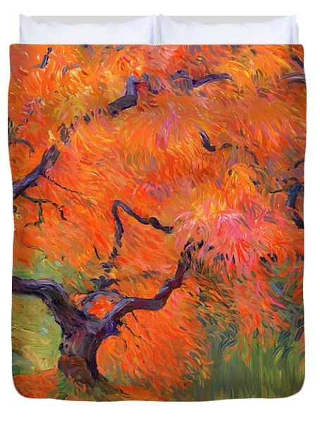 Japanese Maple Tree Duvet Cover