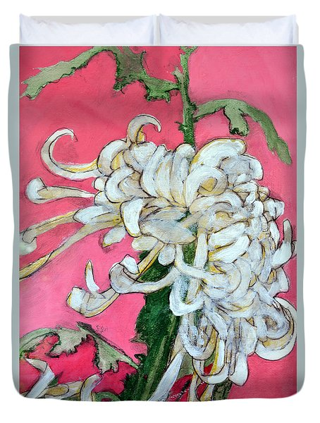 Japanese Mum Duvet Cover