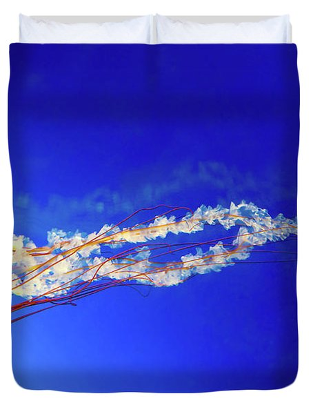 Japanese Sea Nettle Jellyfish Duvet Cover