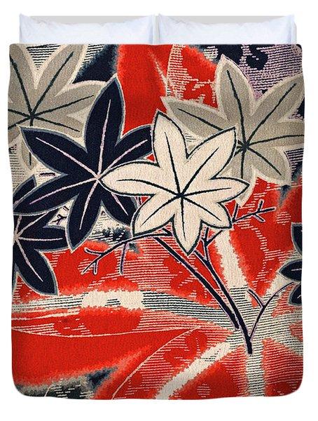 Japanese Style Maple Interior Art Painting. Duvet Cover