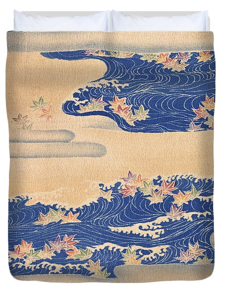 Japanese Style River And Cloud Modern Interior Art Painting. Duvet Cover