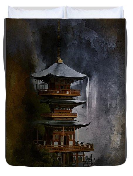 Japanese Temple. Duvet Cover