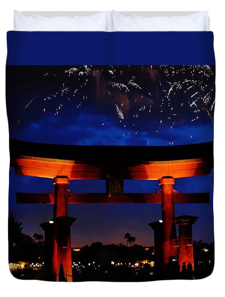 Japanese Torii Duvet Cover by William Bartholomew