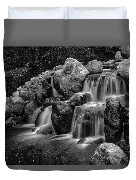 Japanese Waterfalls Duvet Cover