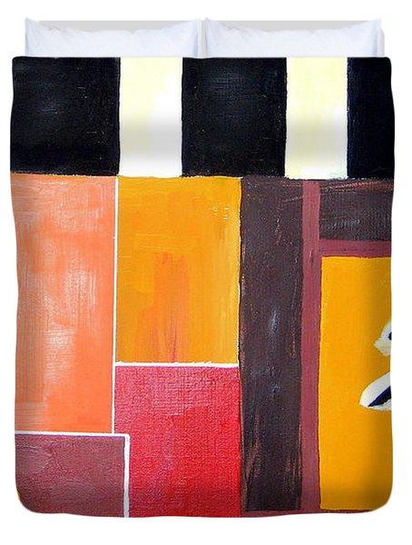 Japonise Painting Duvet Cover