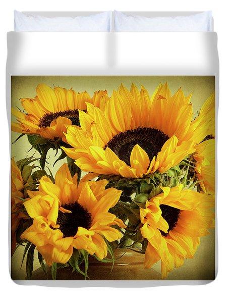 Jar Of Sunflowers Duvet Cover