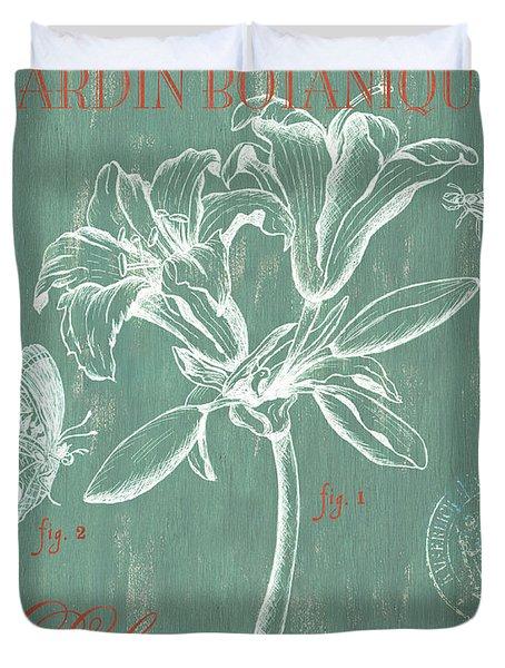Jardin Botanique Aqua Duvet Cover