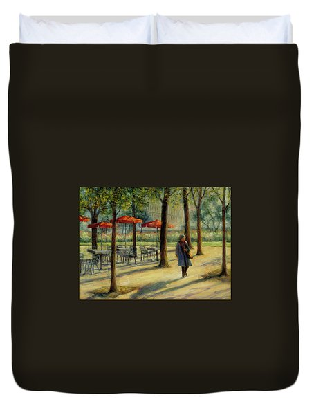Jardin Des Tuileries In October Duvet Cover by Jill Musser