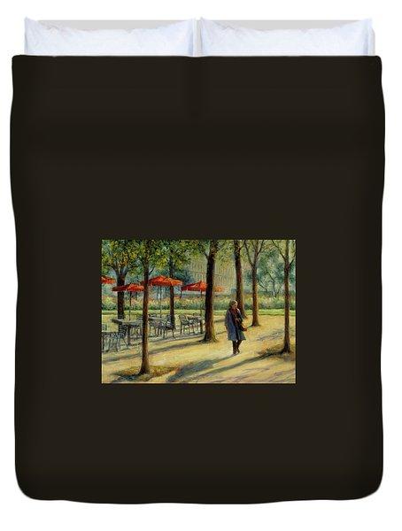 Jardin Des Tuileries In October Duvet Cover