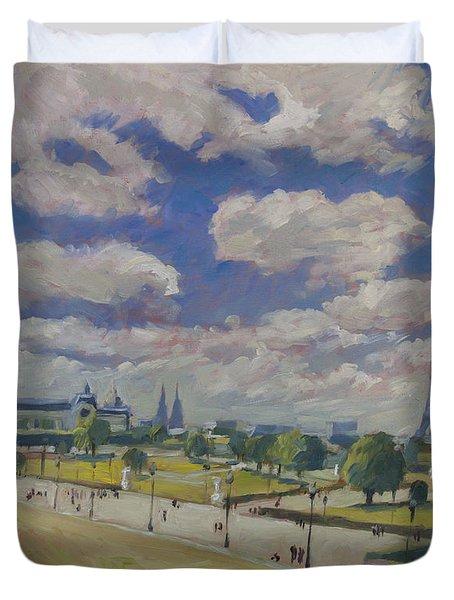 Jardin Des Tuileries Paris Duvet Cover