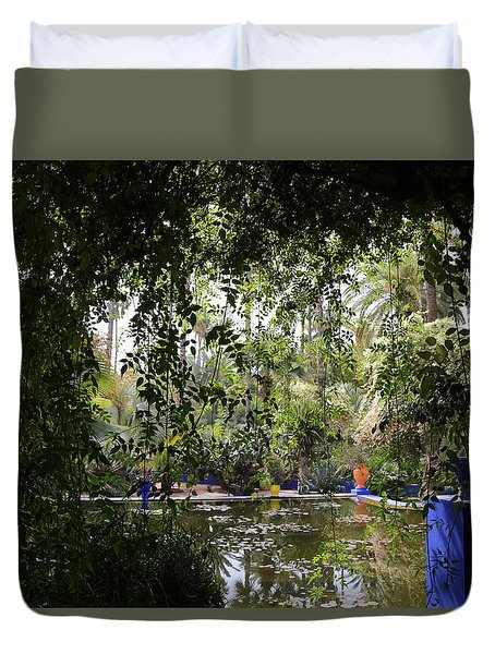 Duvet Cover featuring the photograph Jardin Majorelle 2 by Andrew Fare