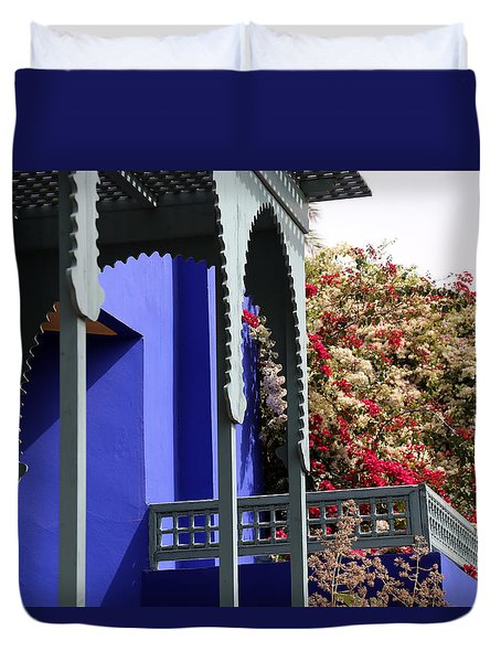 Duvet Cover featuring the photograph Jardin Majorelle 3 by Andrew Fare