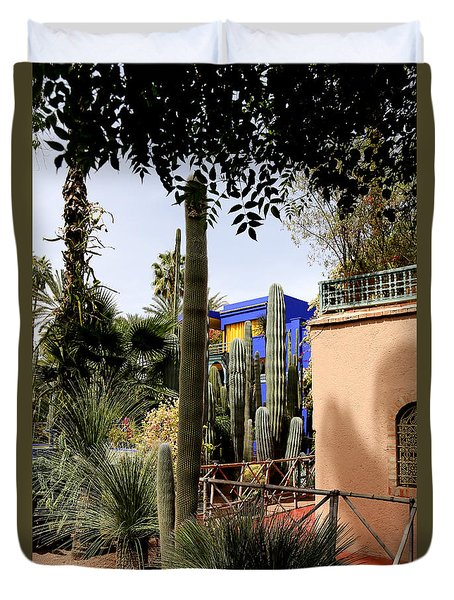 Duvet Cover featuring the photograph Jardin Majorelle 4 by Andrew Fare
