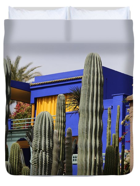 Duvet Cover featuring the photograph Jardin Majorelle 5 by Andrew Fare