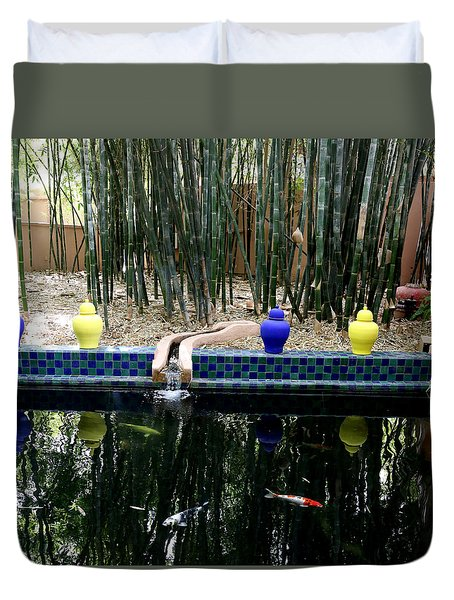 Duvet Cover featuring the photograph Jardin Majorelle by Andrew Fare