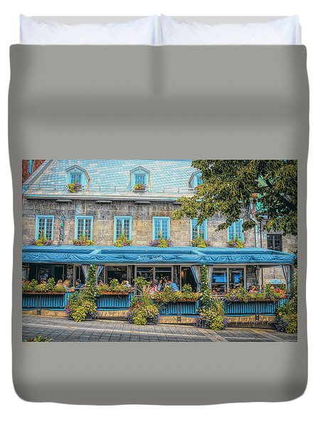 Jardin Nelson On Rue Saint-jacques Duvet Cover