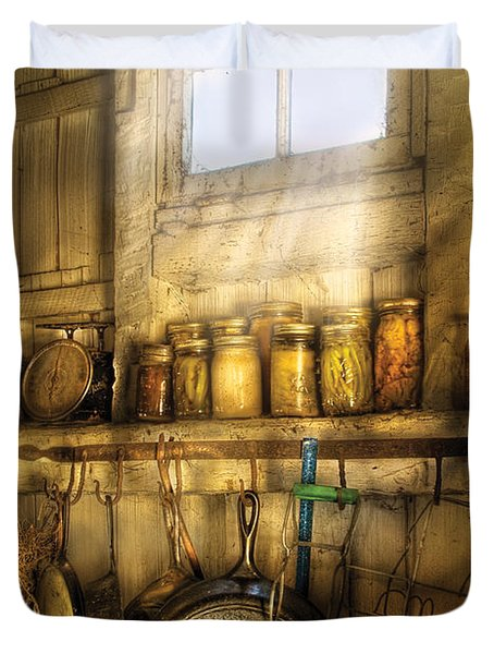 Jars - Winter Preserves  Duvet Cover by Mike Savad