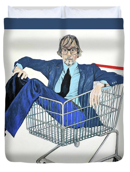 Jarvis Cocker 'off Yer Trolley' Duvet Cover