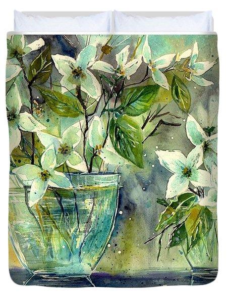 Jasmine In Glass Duvet Cover