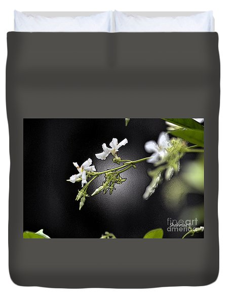 Jasmine In The Dark Duvet Cover