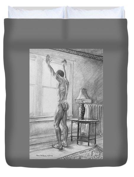 Jason At The Window Duvet Cover