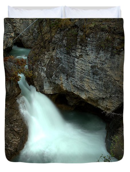 Jasper Beauty Creek Waterfall Canyon Duvet Cover