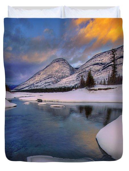 Jasper In The Winter Duvet Cover by Dan Jurak