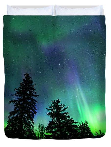 Jasper National Park Aurora Duvet Cover