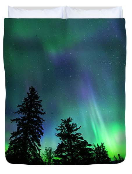 Jasper National Park Aurora Duvet Cover