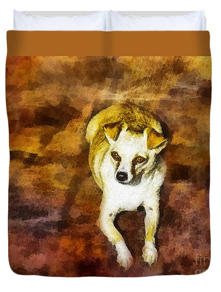 Duvet Cover featuring the photograph Jasper by Rhonda Strickland