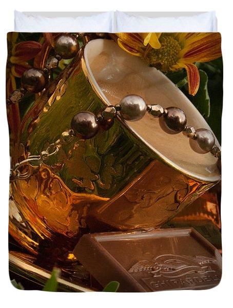 Java Gold Duvet Cover