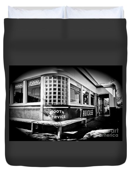 Duvet Cover featuring the photograph Jax Diner, Truckee by Vinnie Oakes