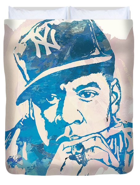 Jay-z  Etching Pop Art Poster Duvet Cover